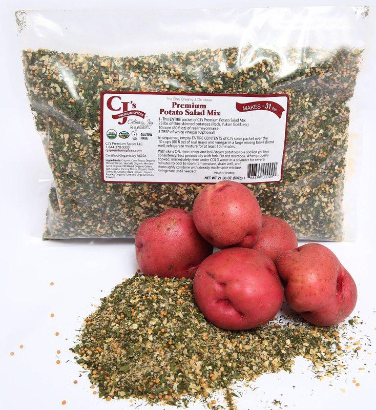 CJ's Premium Spices Foodservice Sizes