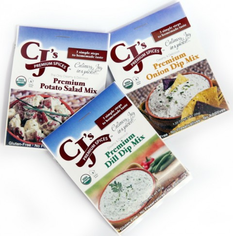 Organic dips and potato salad- CJ's Premium Spices