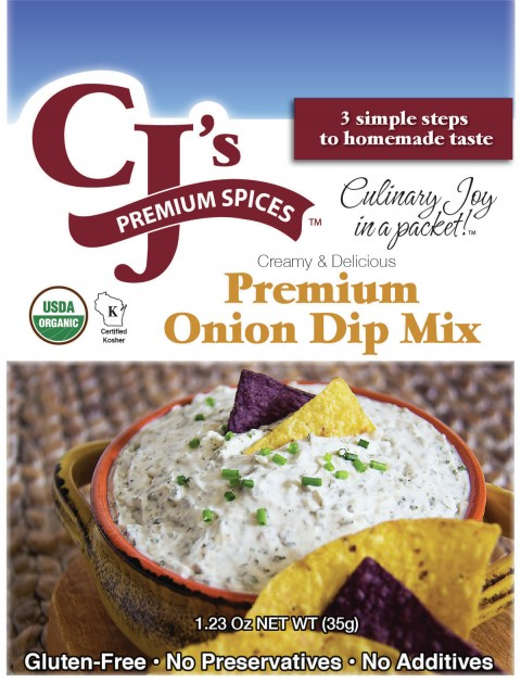 ORGANIC ONION DIP MIX, EASY TO MAKE, INDESCRIBABLE TASTE!!  CJ's PREMIUM SPICES…
