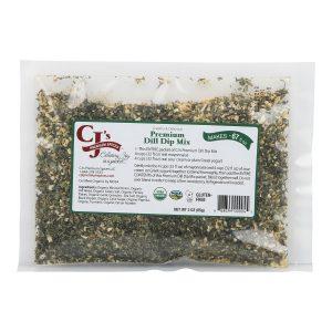 CJ's Premium Dill Dip Mix - Makes 67 fl oz, sofi™ award winner, delicious, organic, kosher, gluten free, clean label ingredients